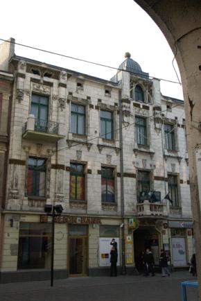 Fasada kamienicy Oszra Kohna, ul. Piotrowska 43, www.muzeumsecesji.pl