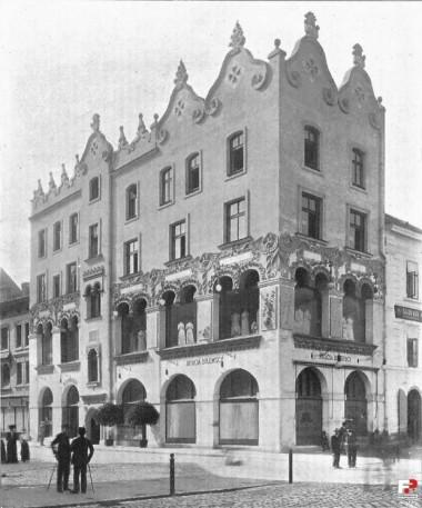 Kamienica Czynciela, przy kościele Mariackim, arch. Ludwik Wojtyczka; źródło: fotopolska.eu
