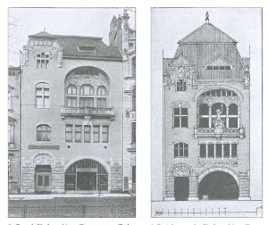 skan fotografii archiwalnej pochodzi z książki Bartłomieja Gutowskiego, Architektura secesyjna Krakowa i jej mecenasi,