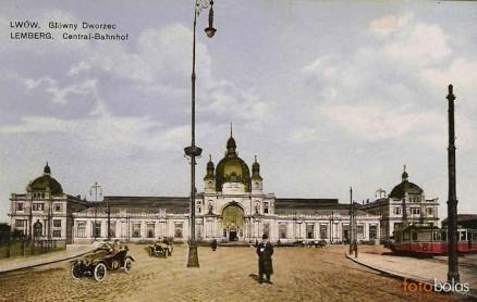 Dworzec kolejowy we Lwowie, arch. Władysław Sadłowski, Julian Zachariewicz;         źródło: www.fotobalas.blog.pl