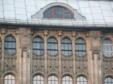 Fragment fasady domu handlowego Martina Schneidera, Wrocław, wg: Strasz Iza, Strasz Piotr , www.muzeumsecesji.pl