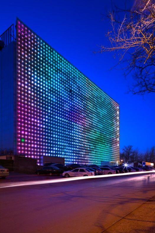 greenpix budynek zmieniający kolor