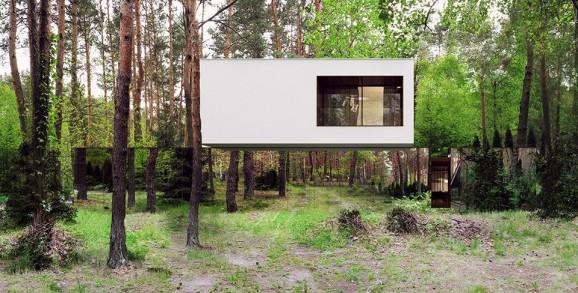 Mirror House w Izabelin , Reform Architekt, Fot. Marcin Tomaszewski