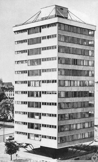 Budynek trzonolinowy we Wrocławiu, 1967; źródło: http://dolny-slask.org.pl/foto/395/395001.jpg