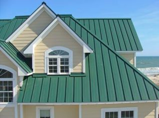 jaki kolor do zielonego dachu
